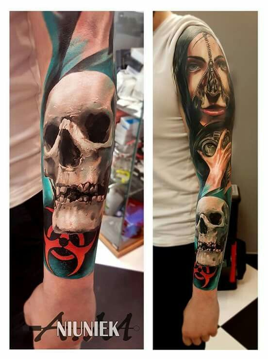 Pin by Be Beauty by Agata on tattoos | Tatuaże czaszki