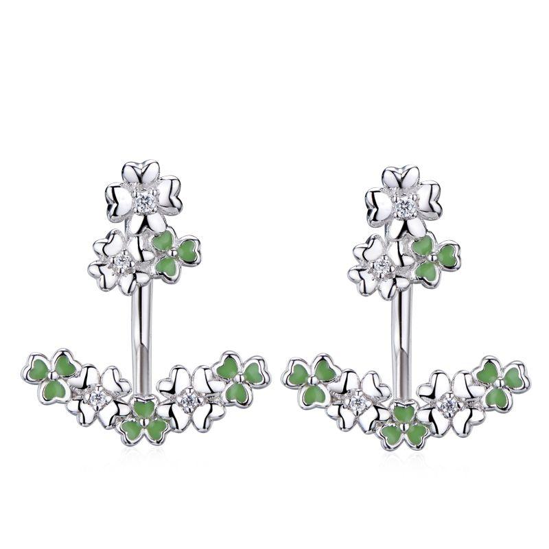 bc4364a2408da 925 Silver Four Leaf Clover Earring   Four Leaf Clover Collection ...