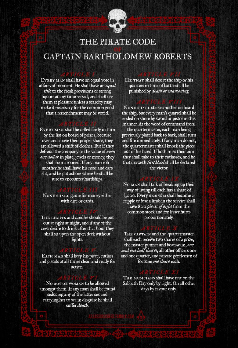 The 25 Best Pirate Code Ideas On Pinterest