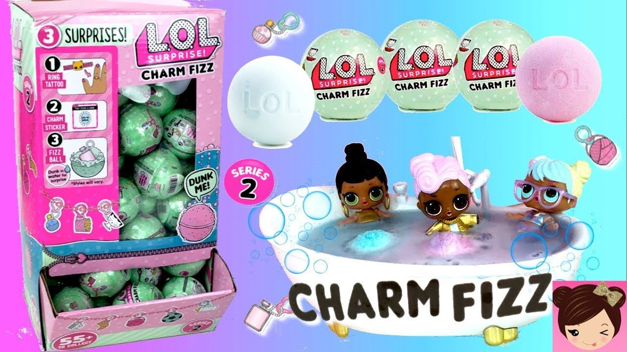 Lol Surprise Fizz Charms Full Case 50 Bath Bombs With Toy