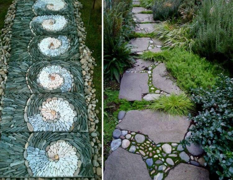 gartenweg anlegen & gestalten - ideen für garten architektur, Gartenarbeit ideen