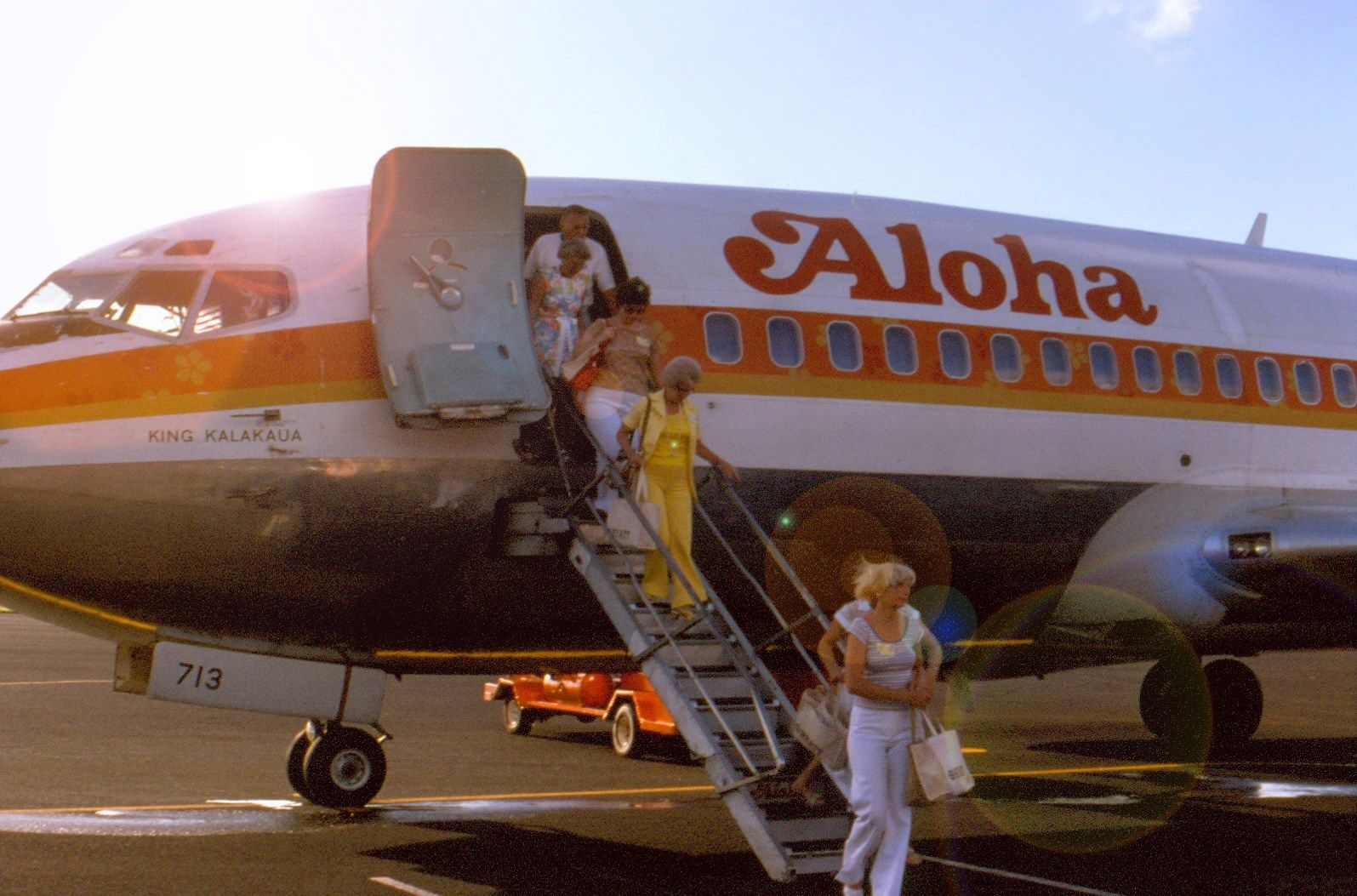 Vintage 1970s Honolulu airport going to Kauai...perhaps
