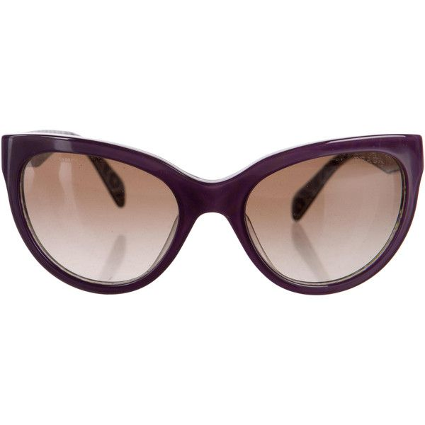 8ebfa475e92 Pre-owned Prada Mosaic Cat-Eye Sunglasses ( 145) ❤ liked on Polyvore  featuring accessories