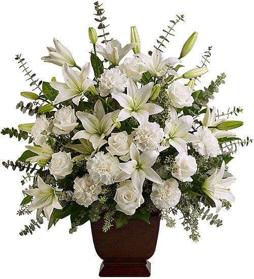 Best White Flowers For Arrangements Canada Funeral Teleflora Sincere Serenity
