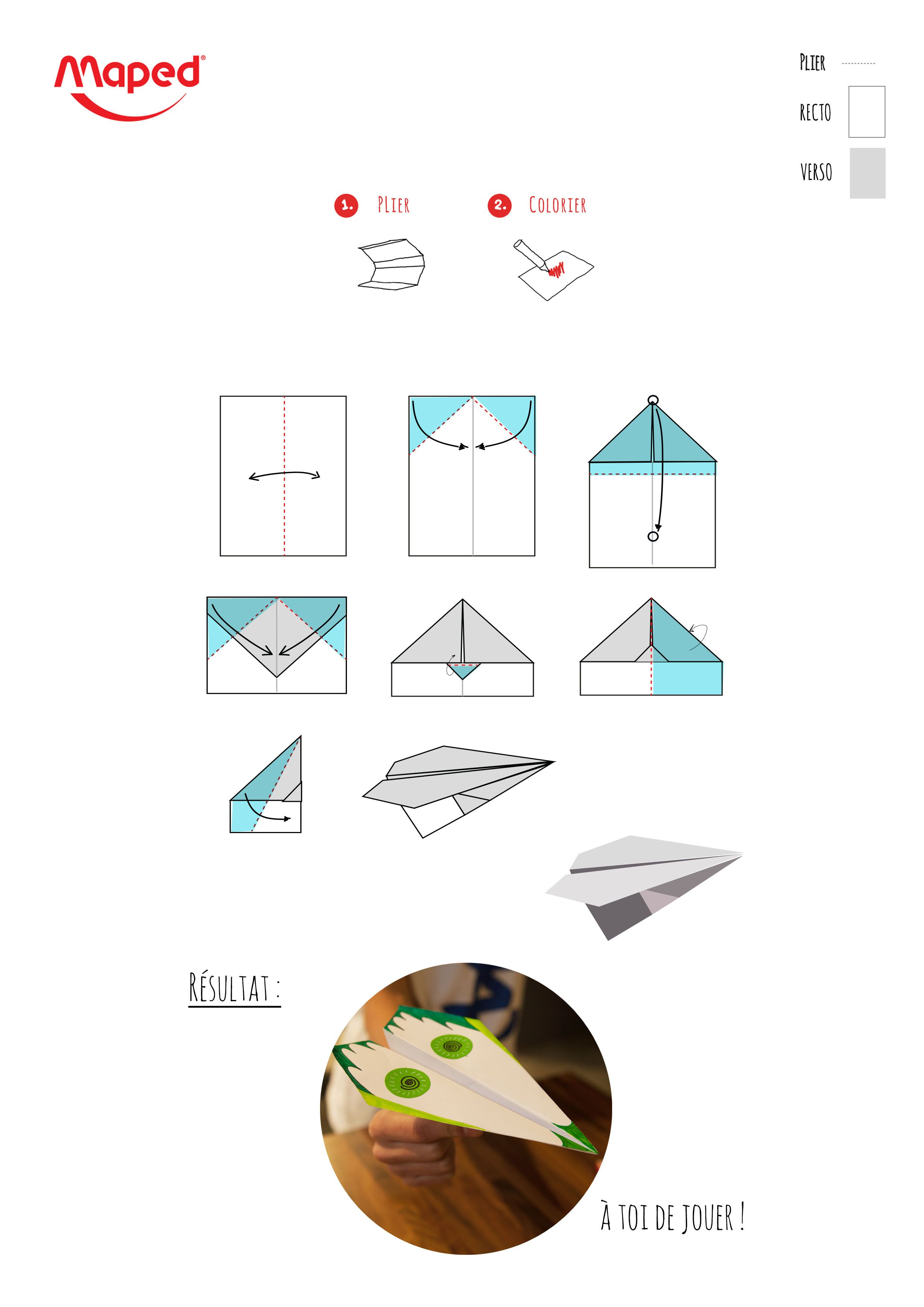 Coloriage Avion En Papier.Patron Avion En Papier Avion En Papier Origami Airplane Et Art