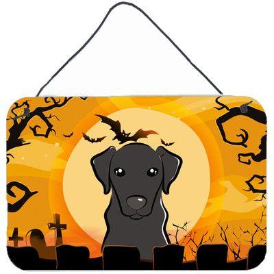 "Caroline's Treasures Halloween Labrador by Denny Knight Graphic Art Plaque Size: 8"" H x 12"" W"
