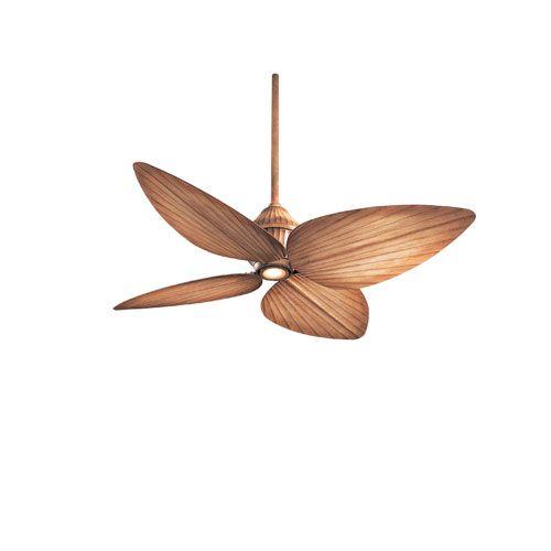 Minka Aire 52 Gauguin Tropical 4 Blade Indoor Outdoor: Minka Aire Mandalay Bahama Beige 52-Inch Ceiling Fan