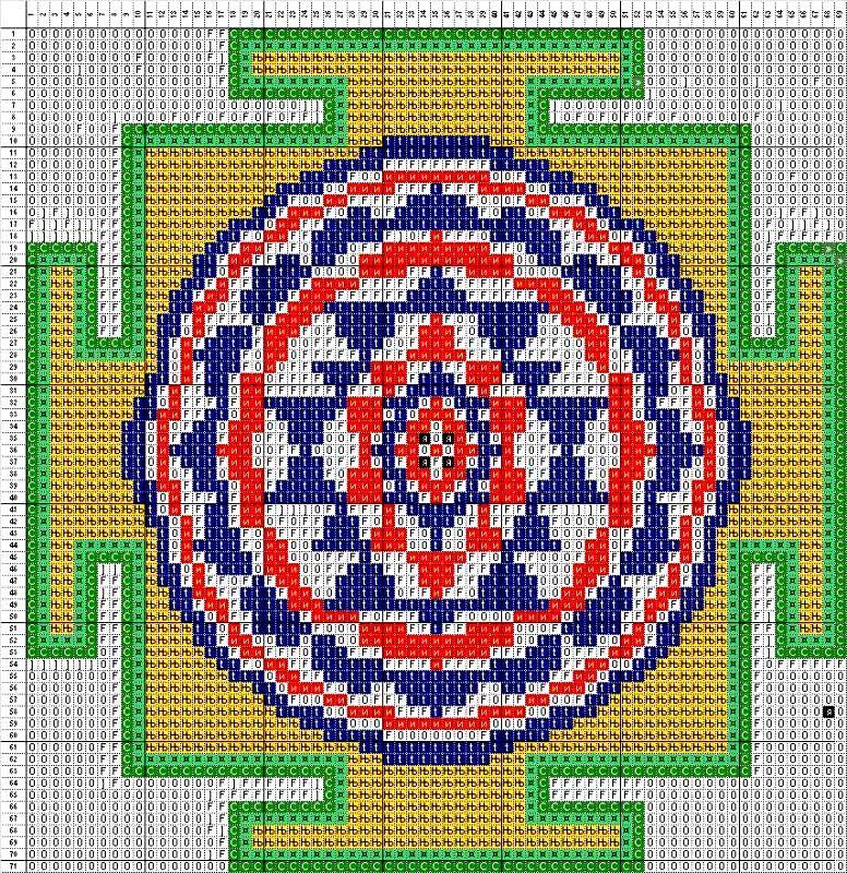 Вышивка крестом мандала схема бесплатно