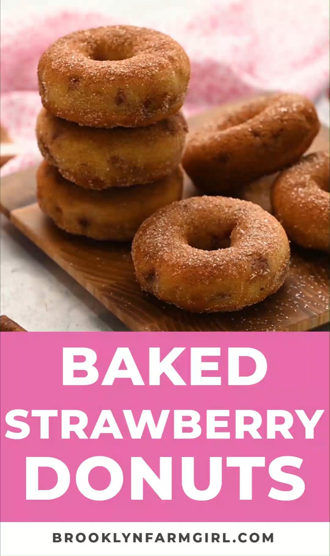 Photo of Baked Strawberry Donuts