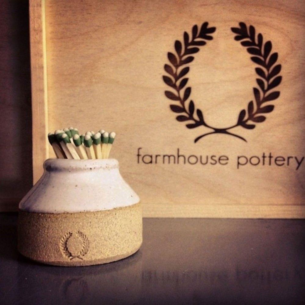 Milk Bottle Match Striker Farmhouse pottery, Pottery, Bottle