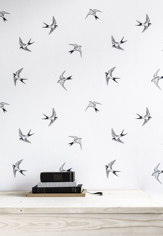 karwei | met dit behang met zwaluwen geef je jouw kamer op een, Deco ideeën