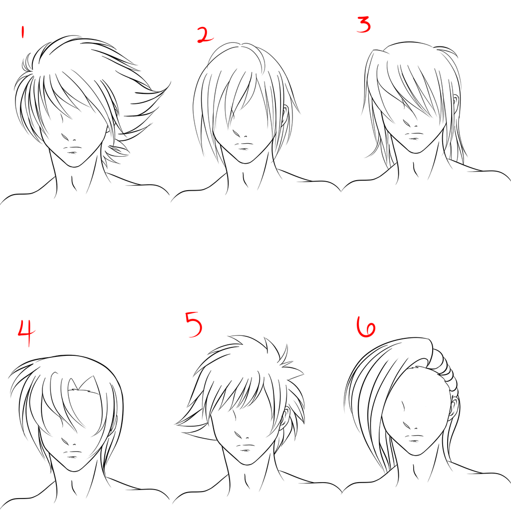 Anime Male Hair Style 1 by RuuRuu-Chan.deviantart.com on ...