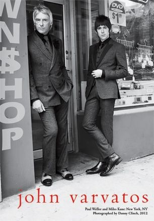 Get that Mod look with Paul Weller and Miles Kane who got together earlier this year to do a fashion campaign for the designer John Varvatos
