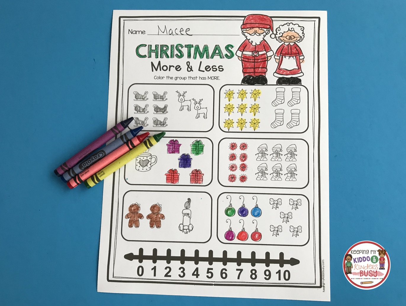December Math And Literacy Pack