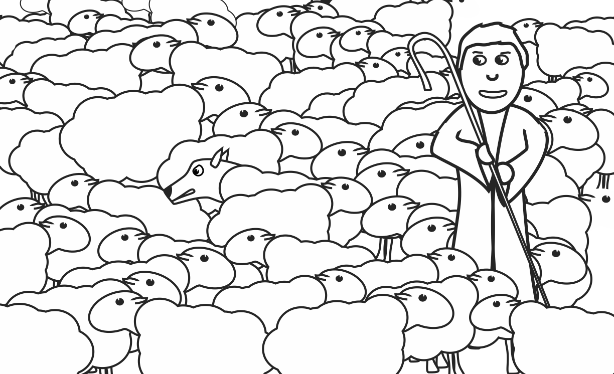 My Children\'s Curriculum: wolf among sheep coloring page | Our Bible ...