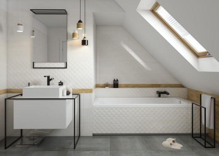 ▷ 1001 + modèles impressionnants de la salle de bain blanche ...