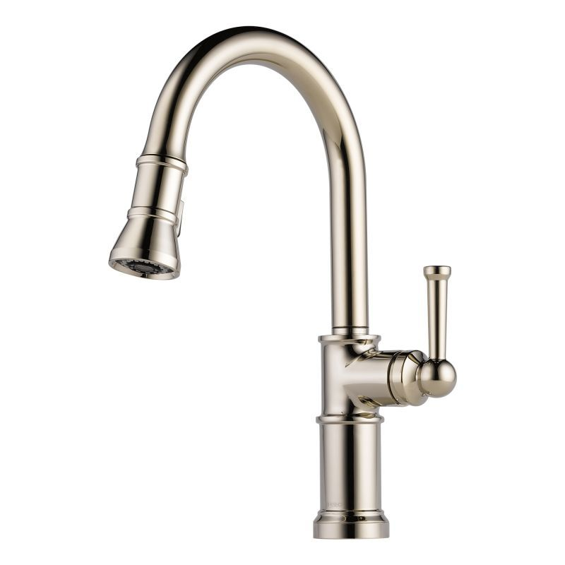 View The Brizo 63025LF Artesso Pull Down Kitchen Faucet With Magnetic  Docking Spray Head