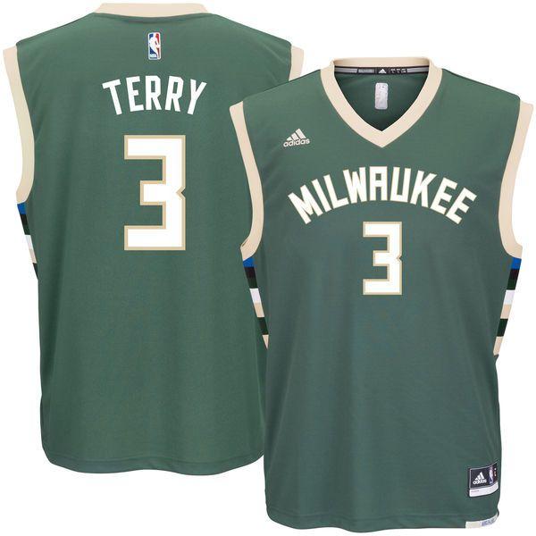 cdbdb5969e5 Jason Terry Milwaukee Bucks adidas Road Replica Jersey - Green ...