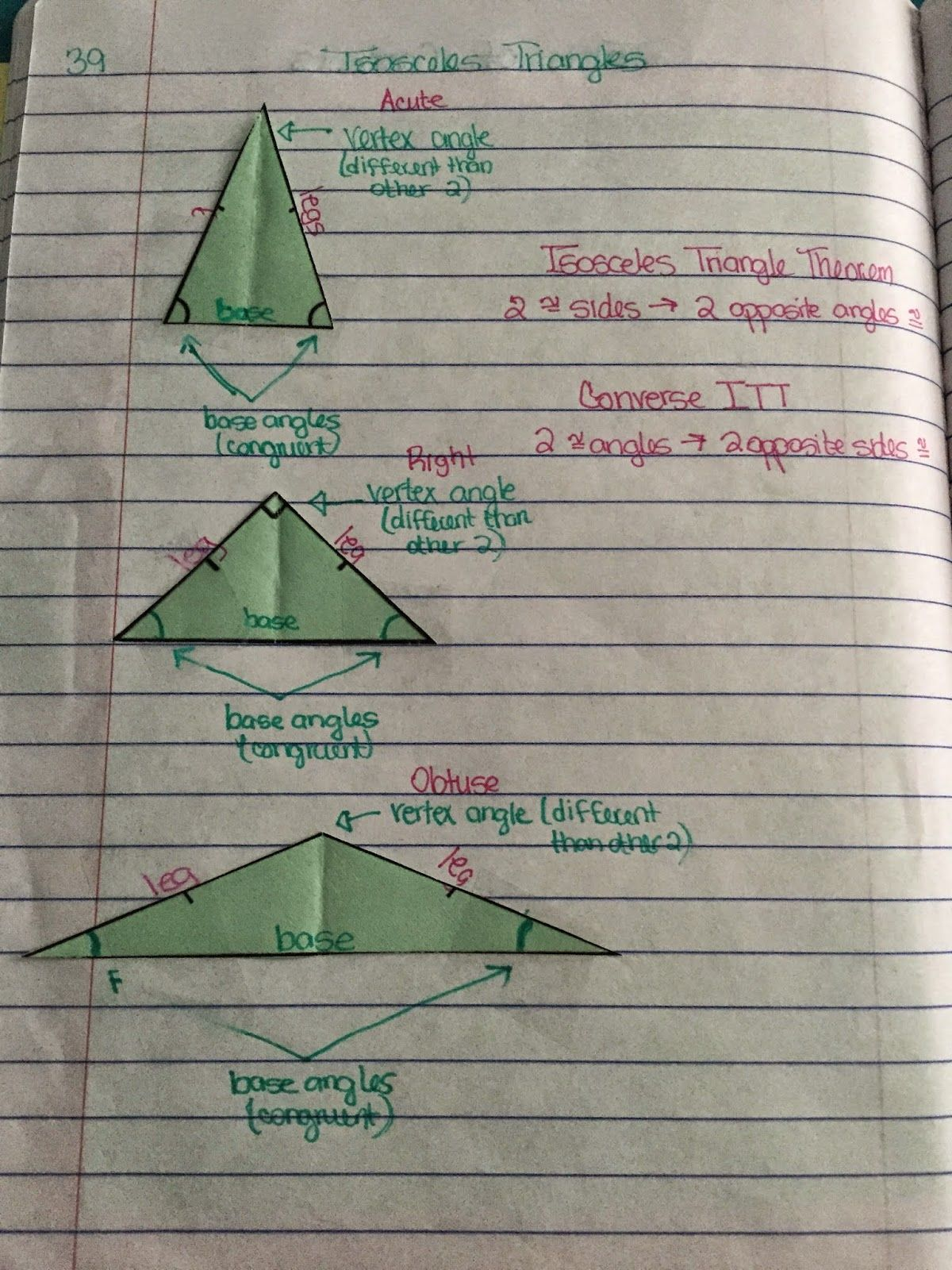 Misscalcul8 Geometry Unit 4 Triangles Interactive