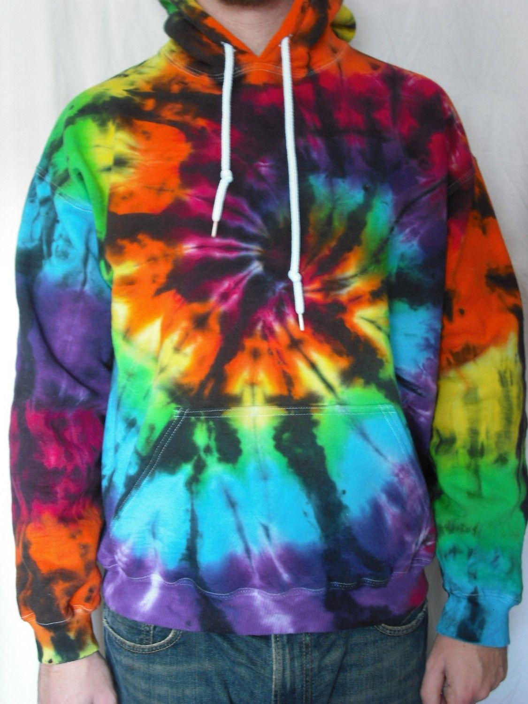 Color interrupted hoodie 3995 via etsy tie dye