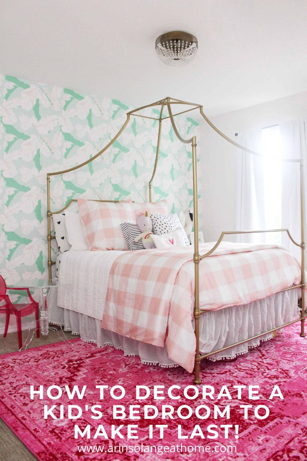 How to decorate kids bedroom and nursery to make it last! Tips and tricks for what to spend money on and what to let go.