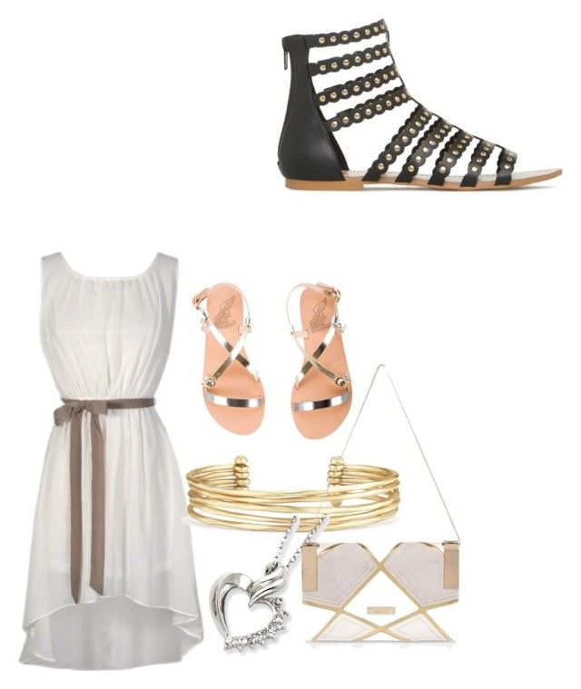 """Untitled #4"" by mckbrice on Polyvore featuring Ancient Greek Sandals, Stella & Dot and River Island"