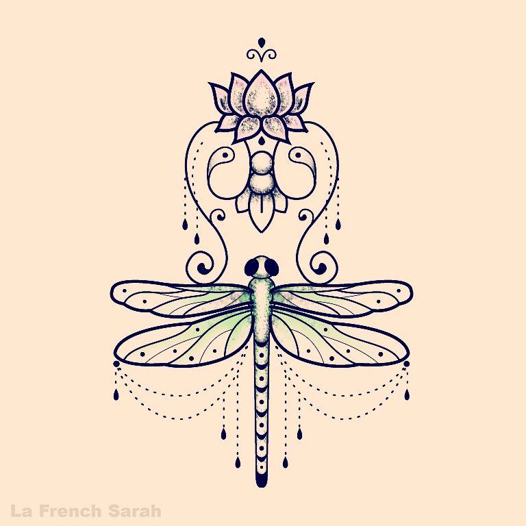 mandala libellule beautiful drawings dragonfly tattoo. Black Bedroom Furniture Sets. Home Design Ideas