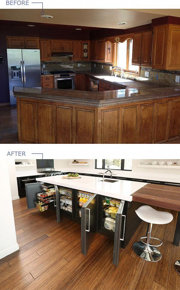1960s Kitchen Remodel Before After: Before And After Kitchen Remodel Project Featuring U-Line