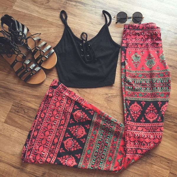 Gypsy Printed Bell Bottoms #hippie