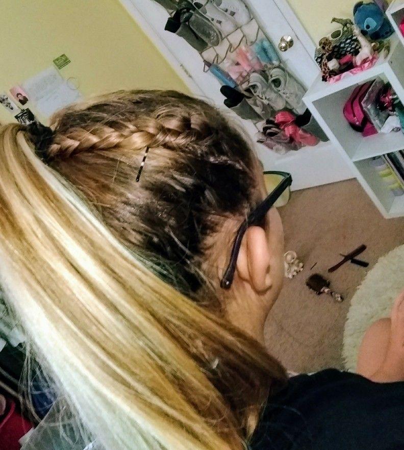 Braid and pony tail Hair styles, Ponytail, Hair