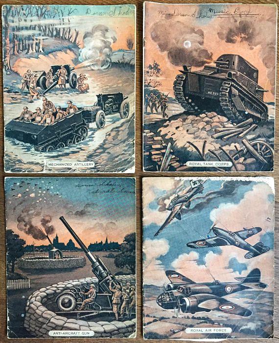 Vintage School Notebooks   World War II Era   Four Used Exercise