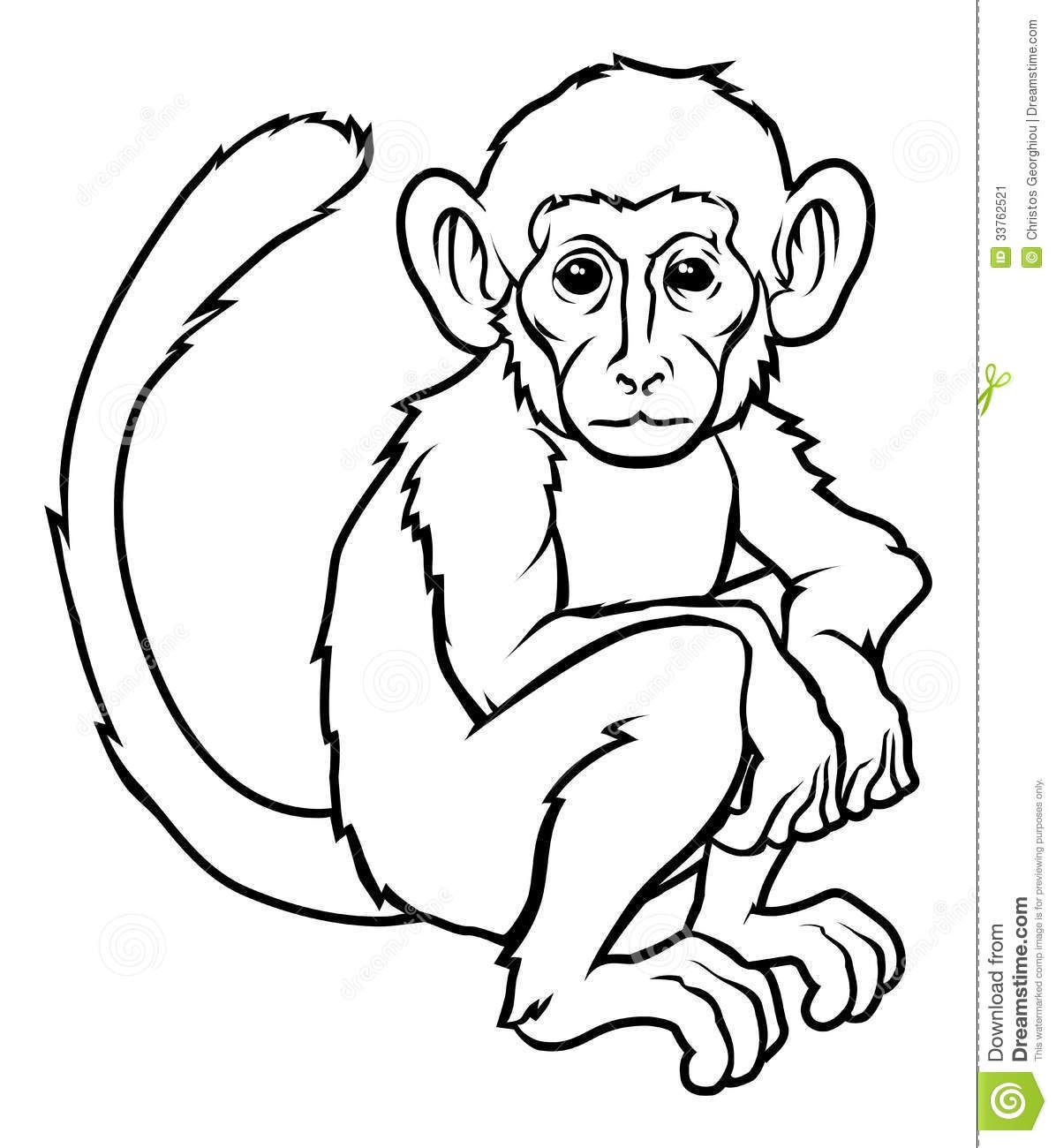 An Illustration Of A Stylised Monkey Perhaps Tattoo