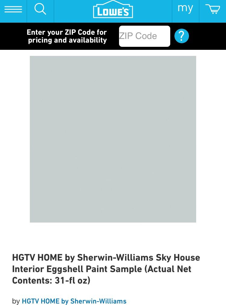 Sky House By Sherwin Williams For Lowe S Hgtv Home Paint