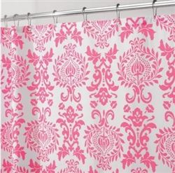 shower curtain to make headboard slip cover for Olivia's room
