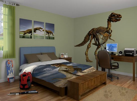 Dinosaur Theme Bedrooms How It Feels To Sleep As If Your Kids Are In Jurassic World Dinosaur Theme Bedroom Dinosaur Bedroom Bedroom Themes