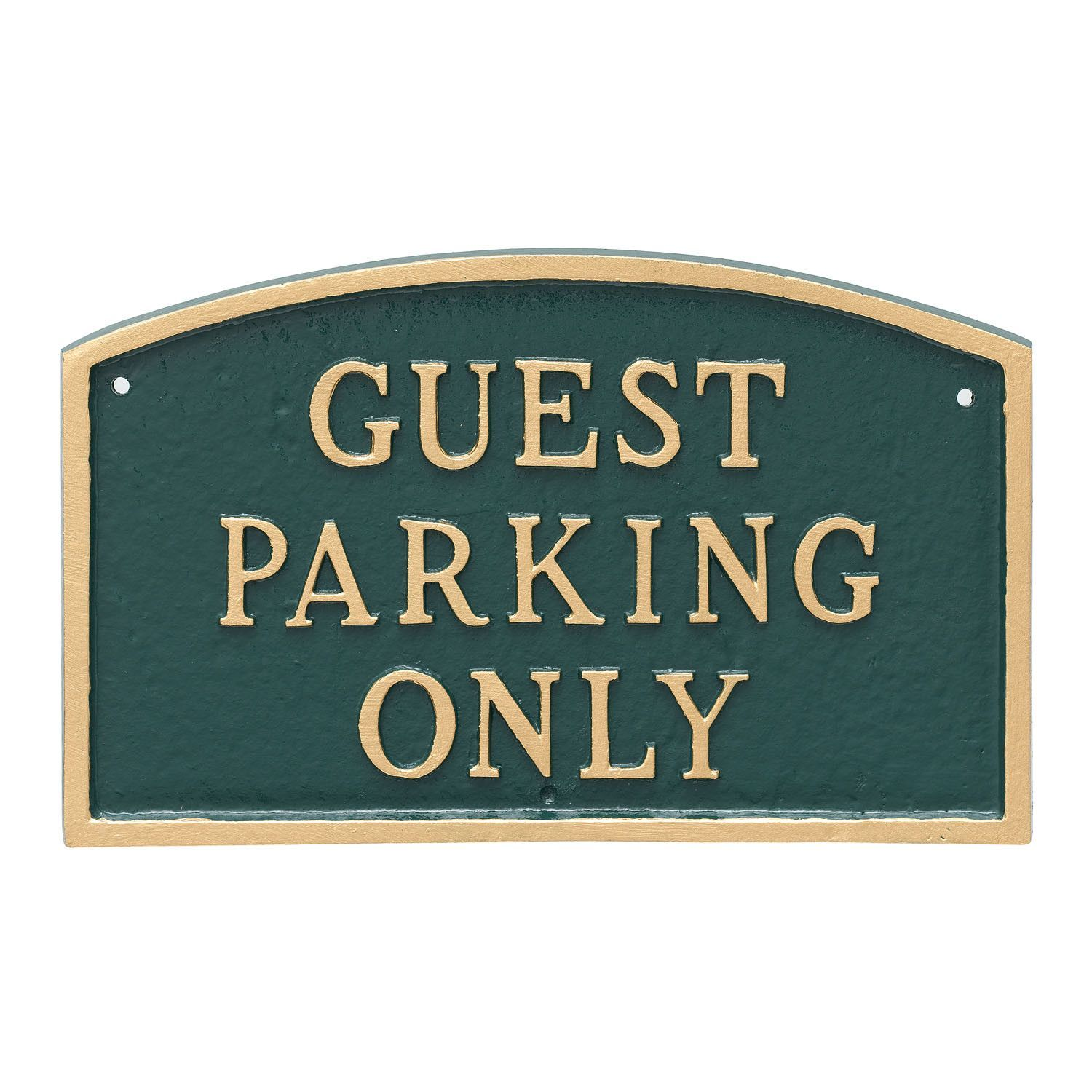Standard Arch Guest Parking Only Statement Plaque Sign