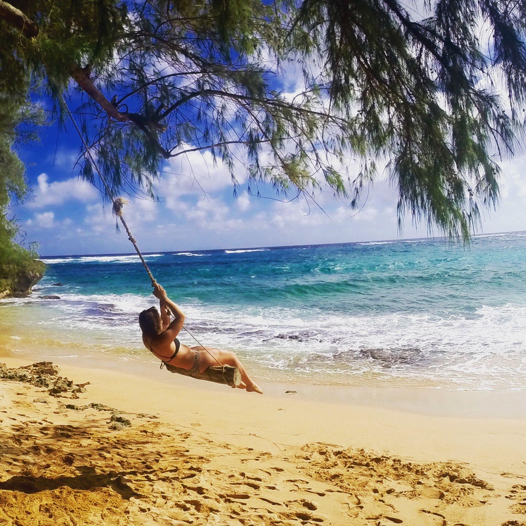 Found a swing on the beach Kauai, Hawaii