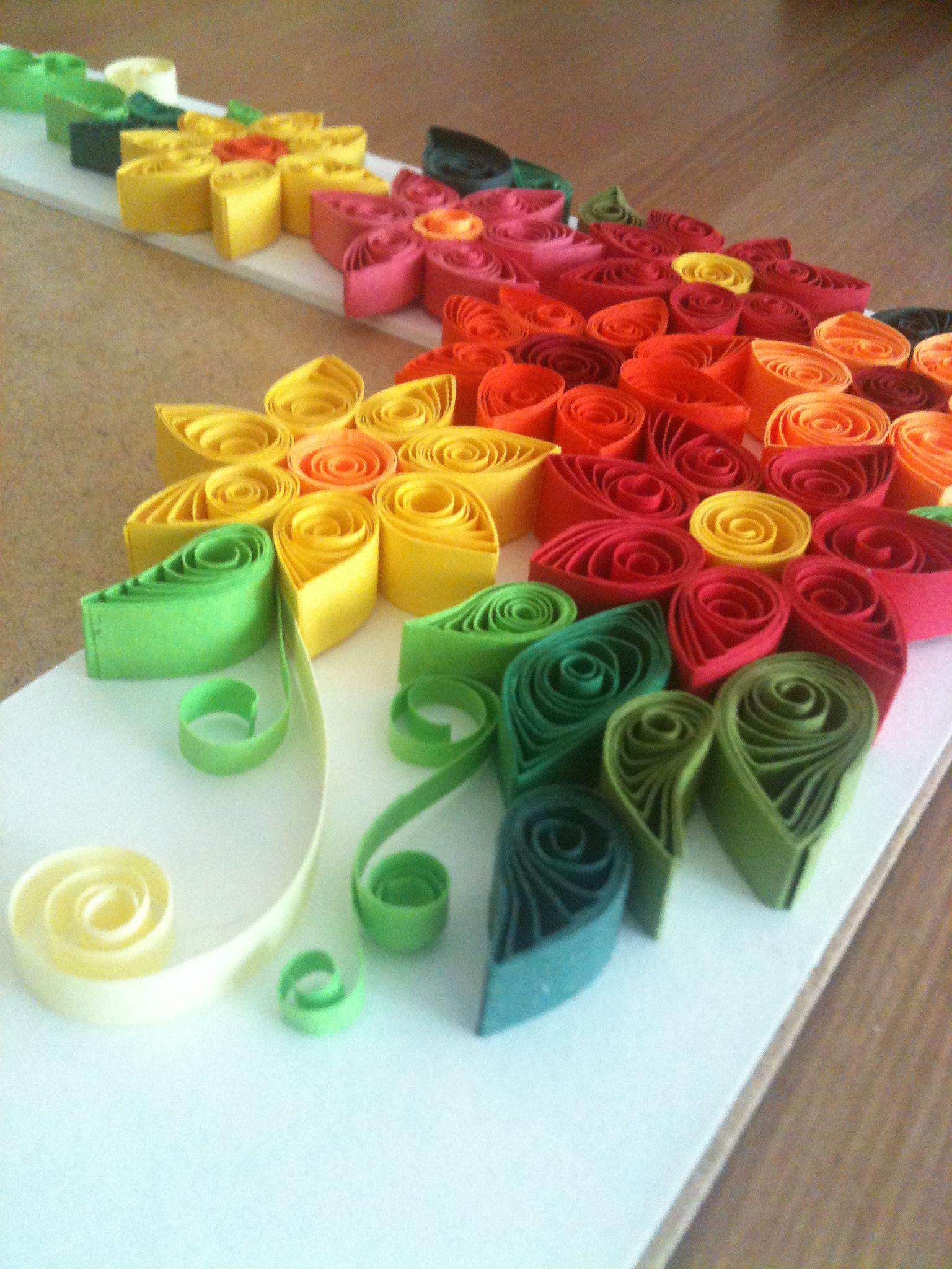 Paper Quilling Flowers Frame Border Diy Handmade Crafts