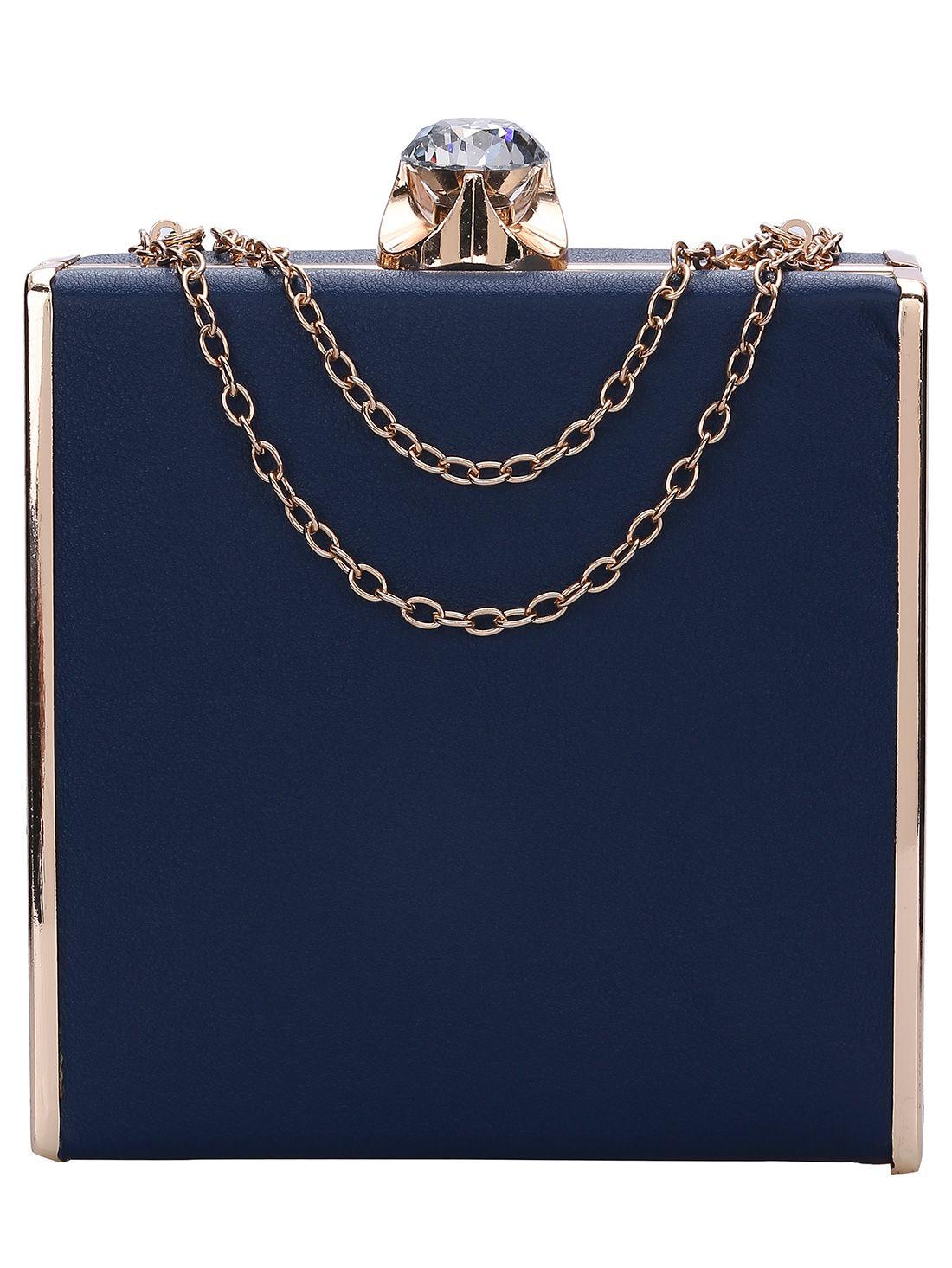 Navy Diamond Perfume Chain Purse 26.00