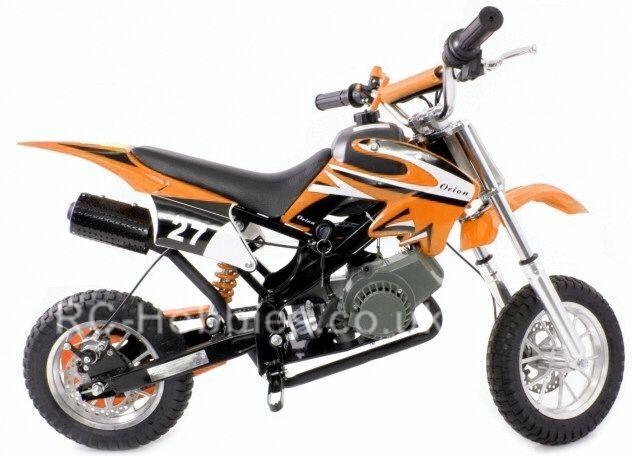 50cc Mini Dirt Bike Kids Pit Bike Scrambler Moto Brand New Orange
