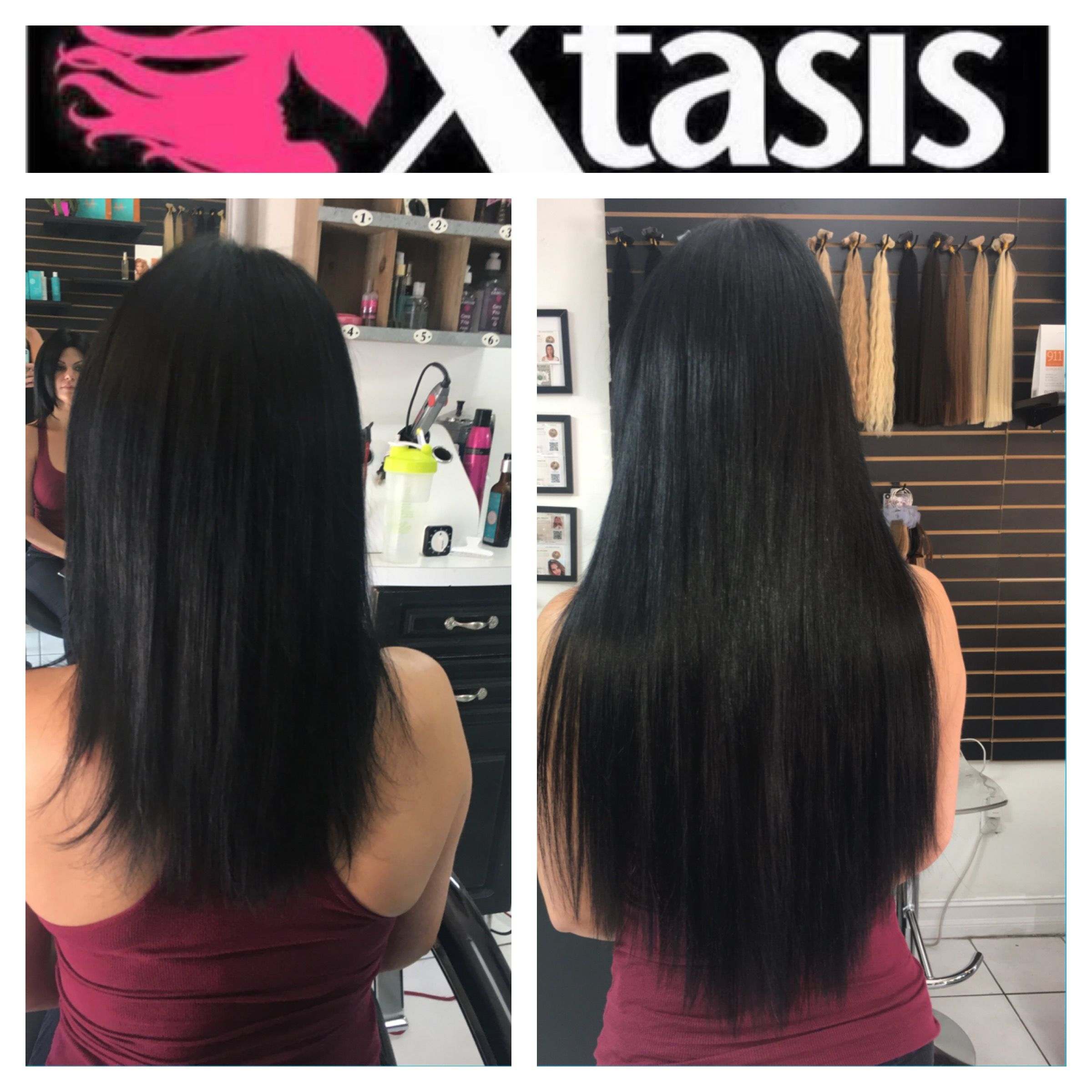 Pin By Xtasis Hair Extension Center Miami On Tape Hair Extensions