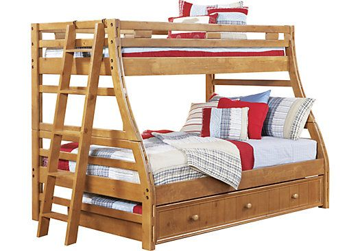 Creekside Taffy Twin Full Bunk Bed Bunk Beds Bunk Beds With Stairs Kids Bunk Beds