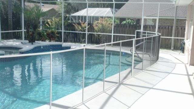White Pool Fence Baby Barrier Pool Fence Pool Gallery