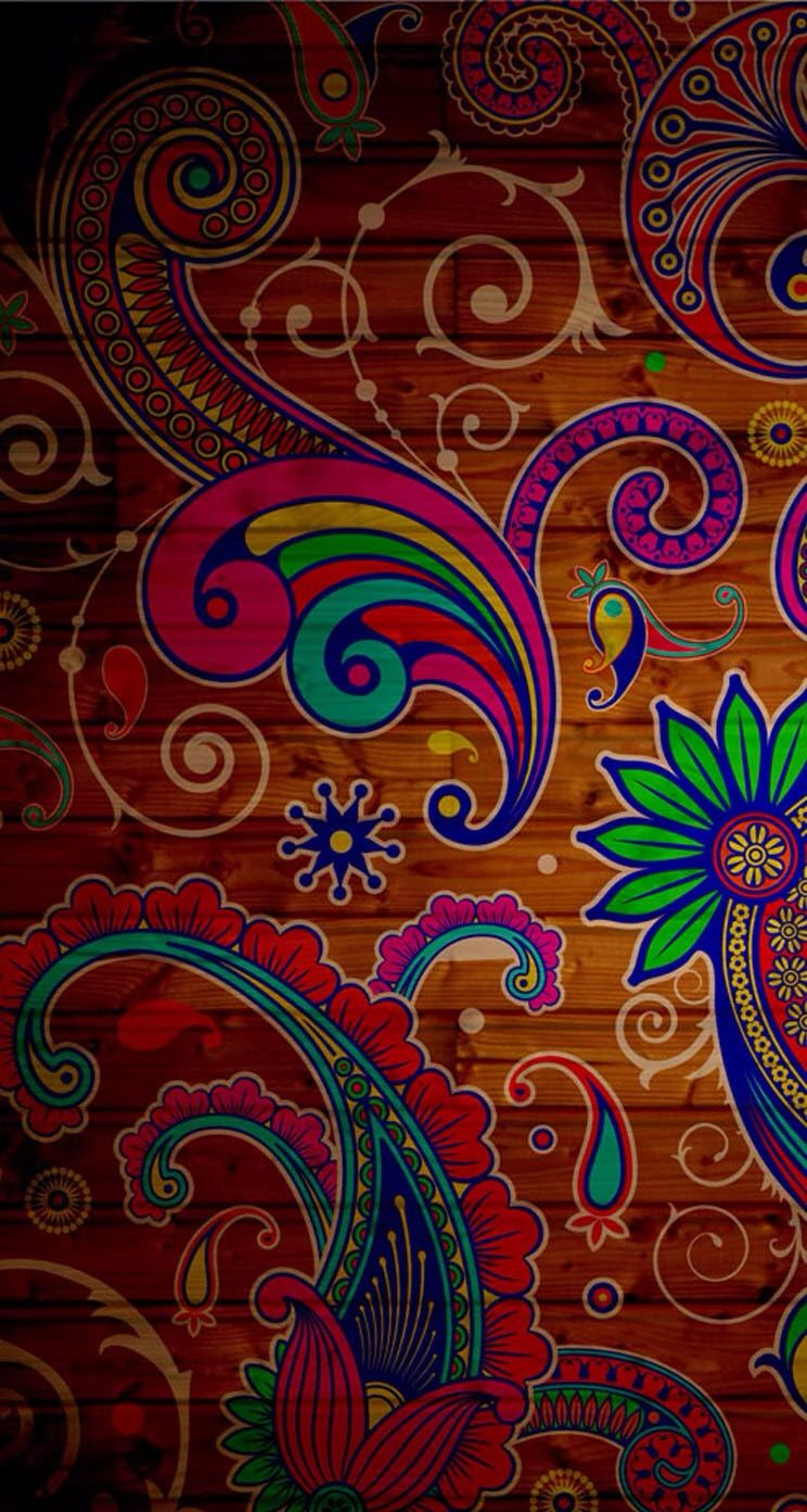 Abstract Paisley iPhone Wallpaper Pattern wallpaper