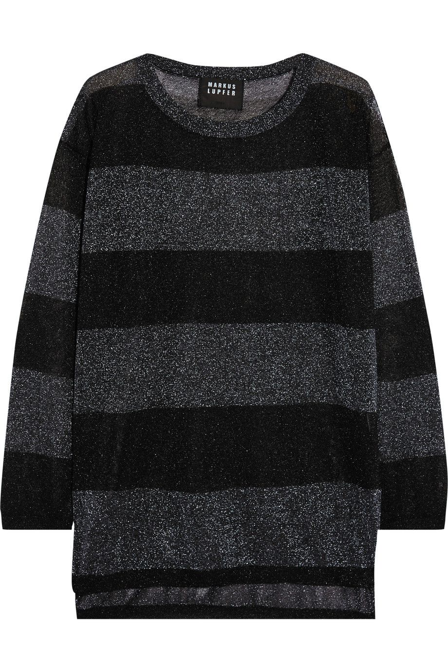MARKUS LUPFER Harriet striped metallic knitted sweater. #markuslupfer #cloth #sweater