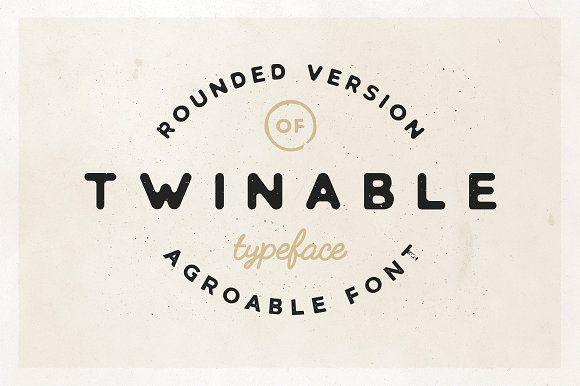 Twinable Rounded Retro Font Retro Font Logo Fonts Typeface