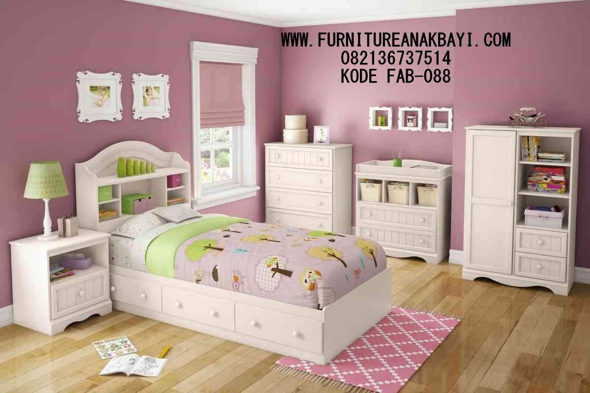 Jasa Pembuatan Desain Set Kamar Anak Warna Pink Modern ...