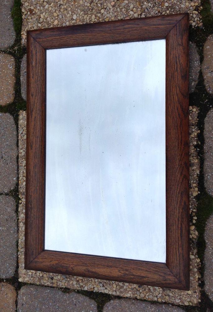 Vintage Oak Wood Frame Mirror 24 X 16 For Sale Pinterest