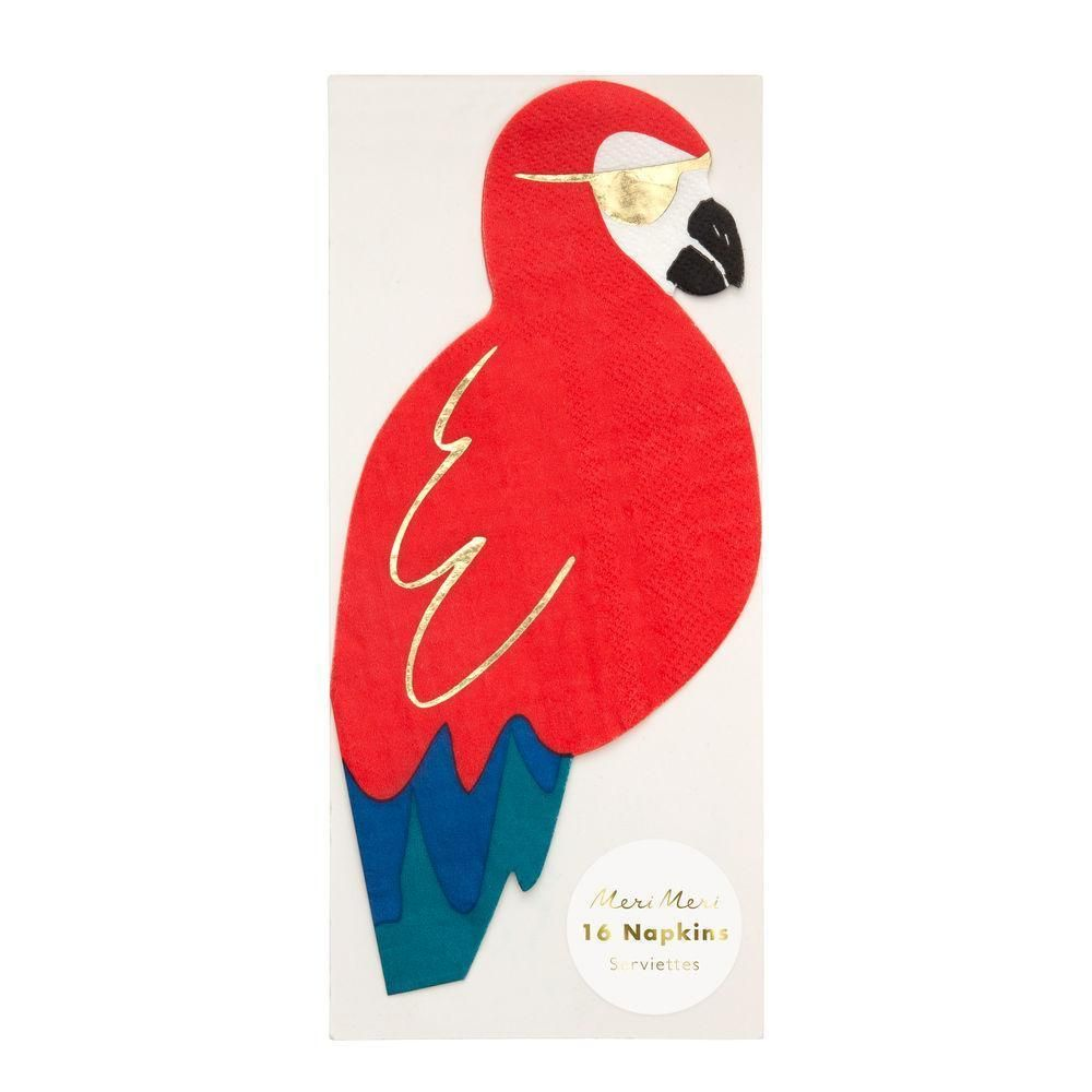 Photo of Shaped Parrot Pirate Lunch Napkins