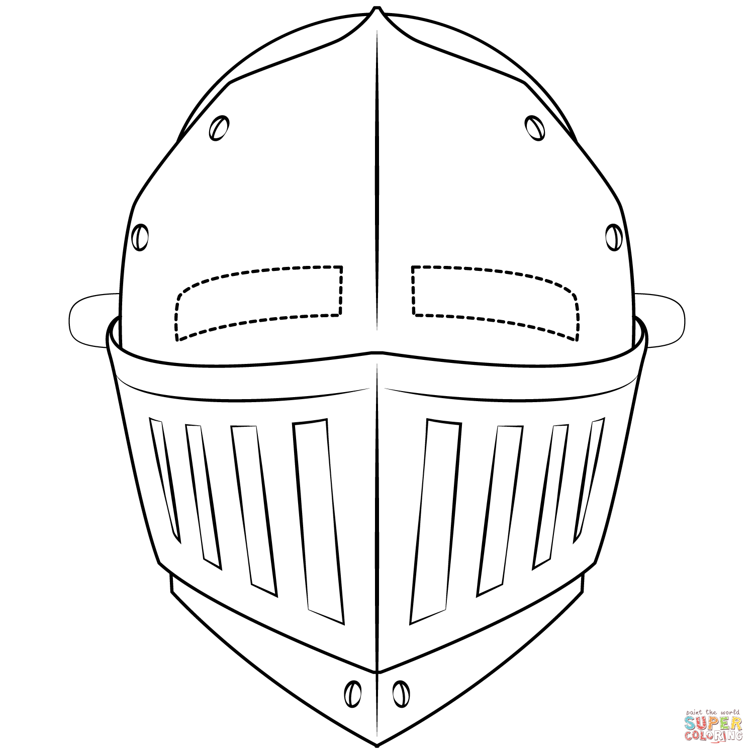 Knight Mask coloring page  Free Printable Coloring Pages in 14